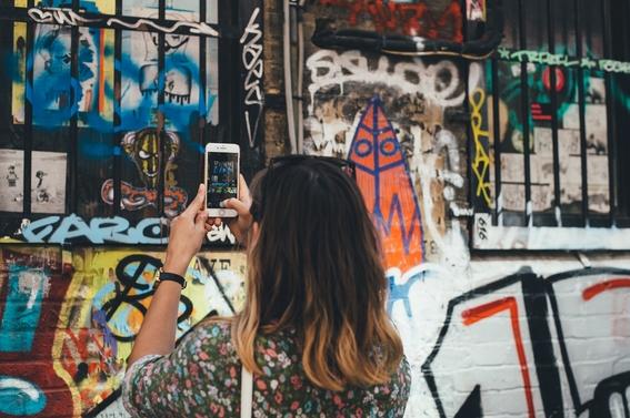 selfies con obras de arte 1