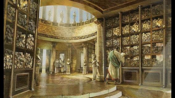 biblioteca de alejandria 1