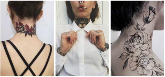 tatuajes en el cuello para mujeres 4
