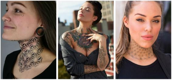 tatuajes en el cuello para mujeres 6