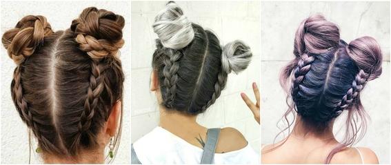 double bun hairstyle 2