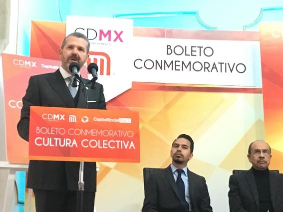 cultura colectiva presenta boleto conmemorativo del metro 2