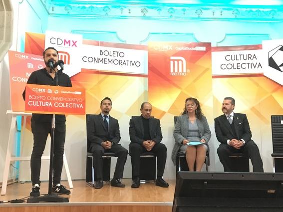 cultura colectiva presenta boleto conmemorativo del metro 3