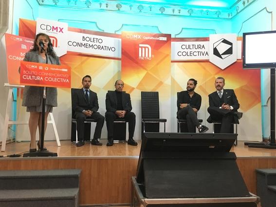 cultura colectiva presenta boleto conmemorativo del metro 4