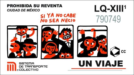 cultura colectiva presenta boleto conmemorativo del metro 5