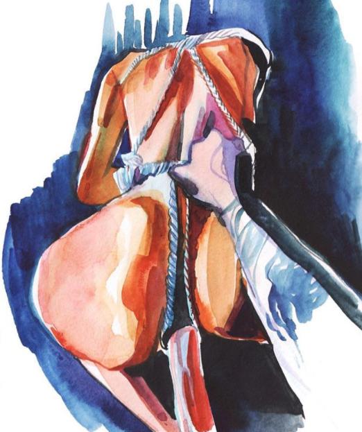 ilustraciones de watercolor porn 6