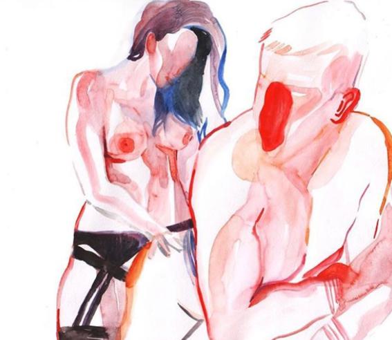 ilustraciones de watercolor porn 9