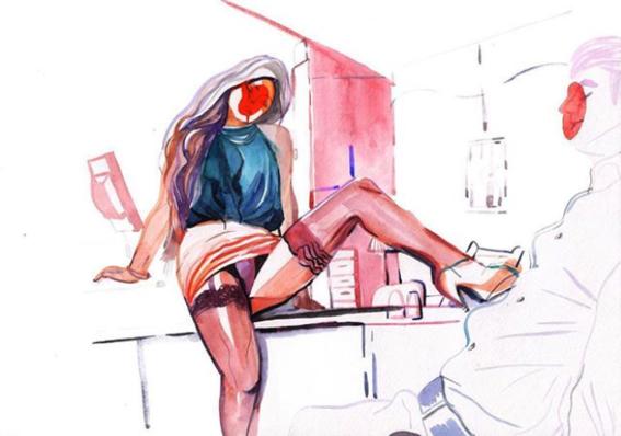 ilustraciones de watercolor porn 12