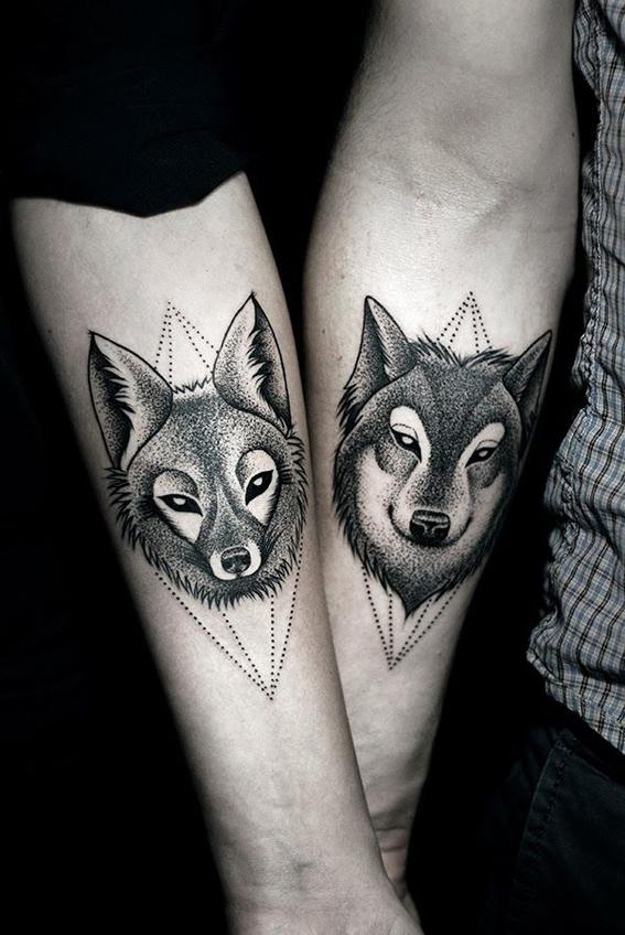 tatuajes de animales para parejas 13