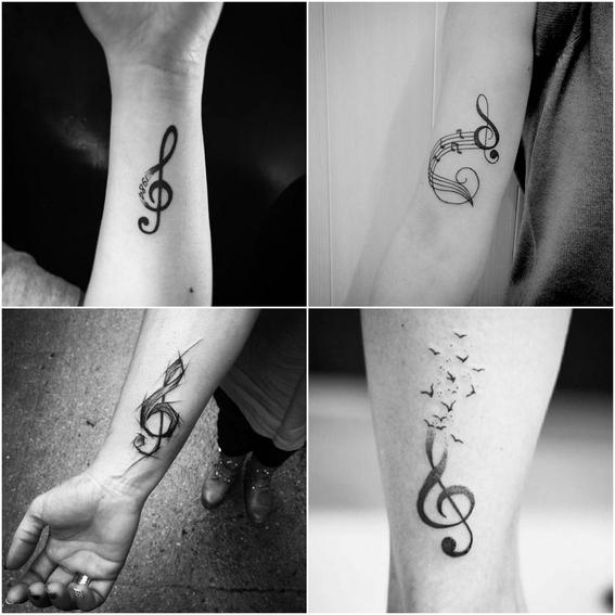 tatuajes de notas musicales 3