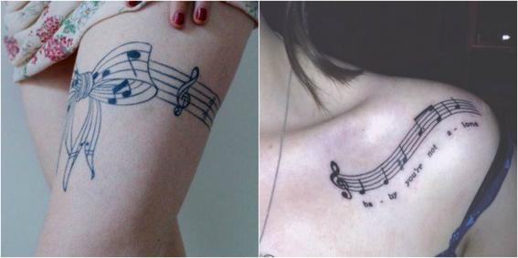 tatuajes de notas musicales 6