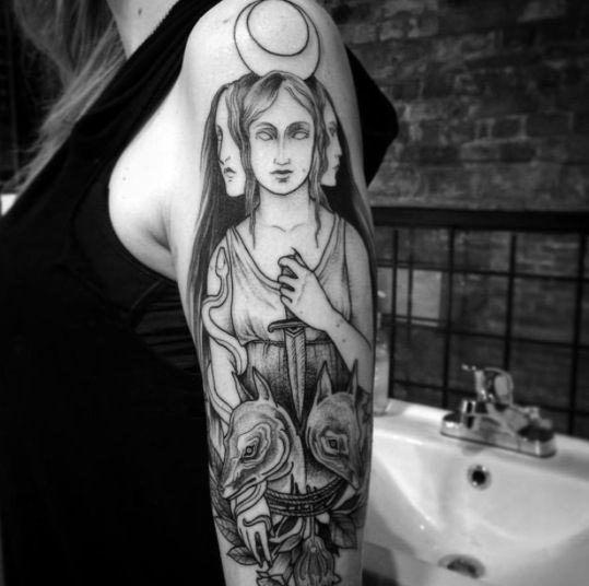 tatuajes de diosas griegas 1