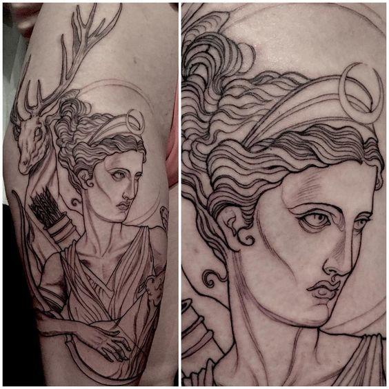 tatuajes de diosas griegas 5