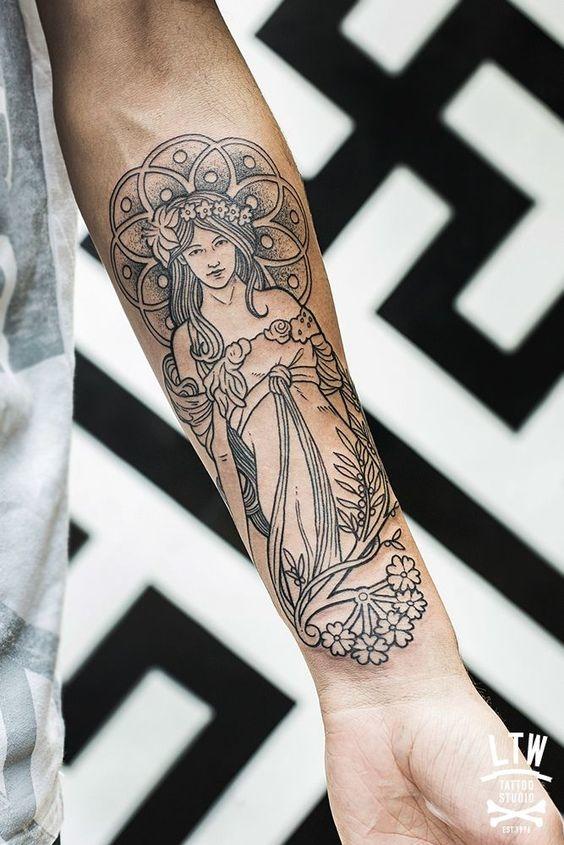 tatuajes de diosas griegas 12