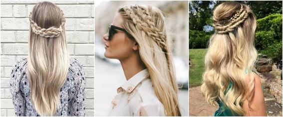 halo braid hairstyles 2