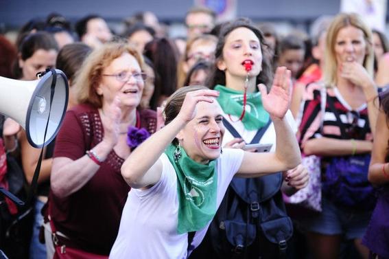 en fotos asi fueron las marchas por el dia internacional de la mujer 2
