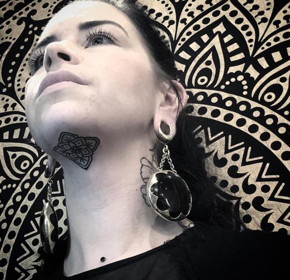 under chin tattoo trend 6