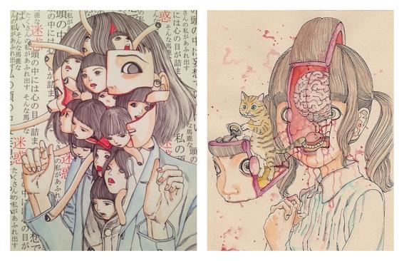 ilustraciones de shintaro kago 2