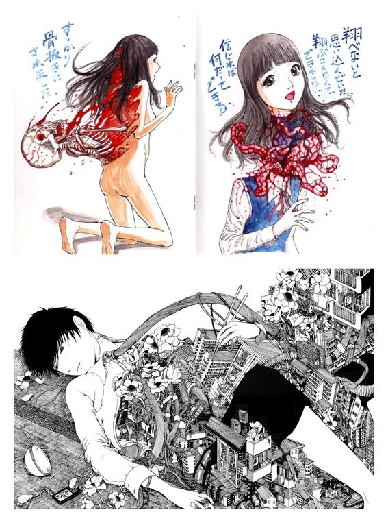 ilustraciones de shintaro kago 3