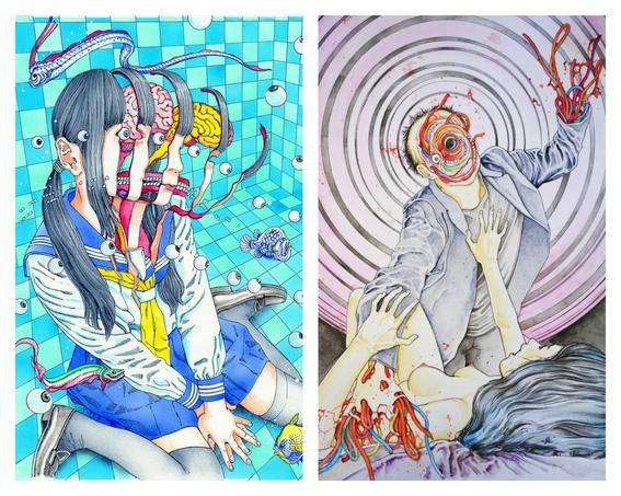 ilustraciones de shintaro kago 13
