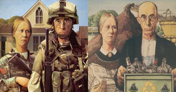 American Gothic Painting Parodies 1