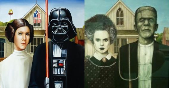 American Gothic Painting Parodies 2
