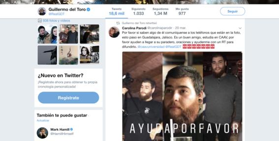 Guillermo del Toro se suma a la búsqueda de estudiantes secuestrados en Jalisco 1