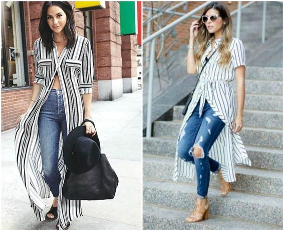 formas de llevar vestido con jeans 2