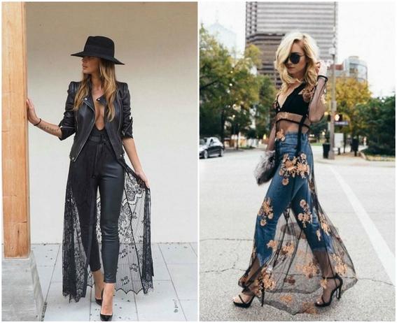 formas de llevar vestido con jeans 3