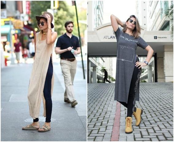 formas de llevar vestido con jeans 4