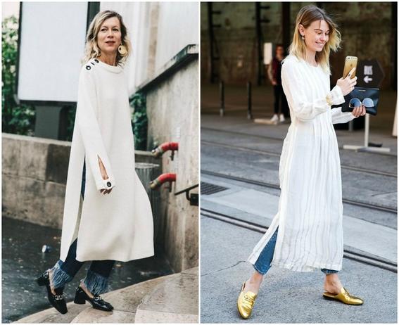 formas de llevar vestido con jeans 5