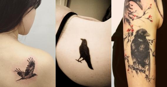 crow tattoo design 1