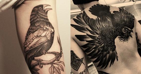 crow tattoo design 3