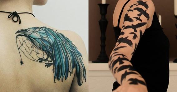 crow tattoo design 2