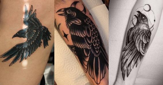 crow tattoo design 5