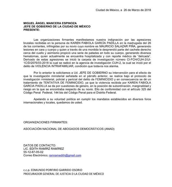 Mujer agredida por Mauricio Salazar se recupera tras agresión en la Roma Norte 3
