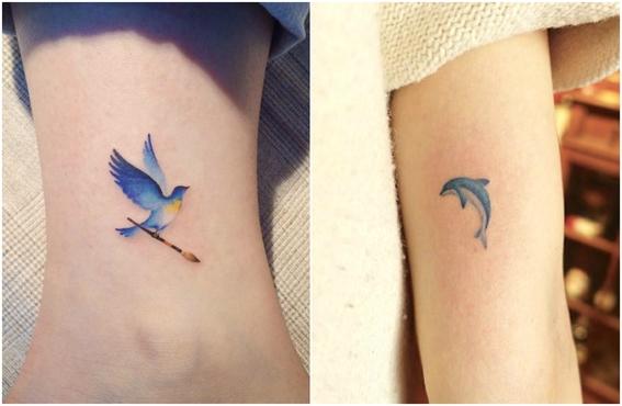 tatuajes pequeños a color 4