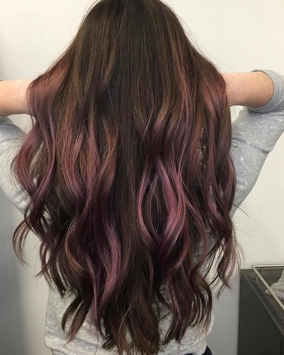 chocolate mauve hair color 3