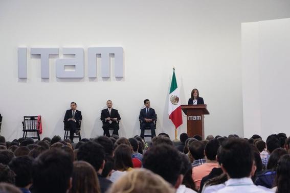 Margarita Zavala en el ITAM 1