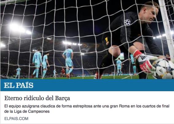 eliminacion del barcelona en la champions league 2