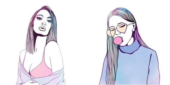 ilustraciones minimalistas de love me paris 9
