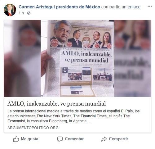 Medios internacionales no dan el triunfo a AMLO 1