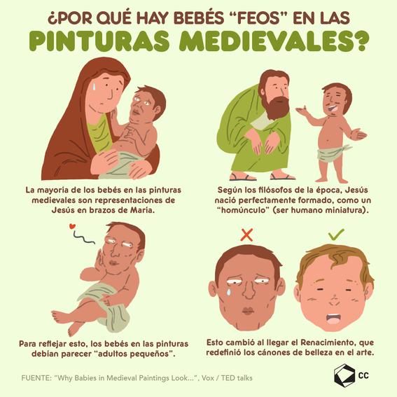 infografia por que los bebes en las pinturas son feos 1