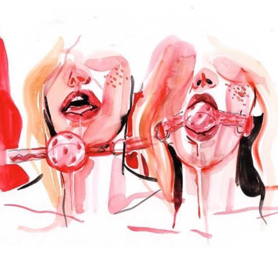 ilustraciones de watercolor porn 11