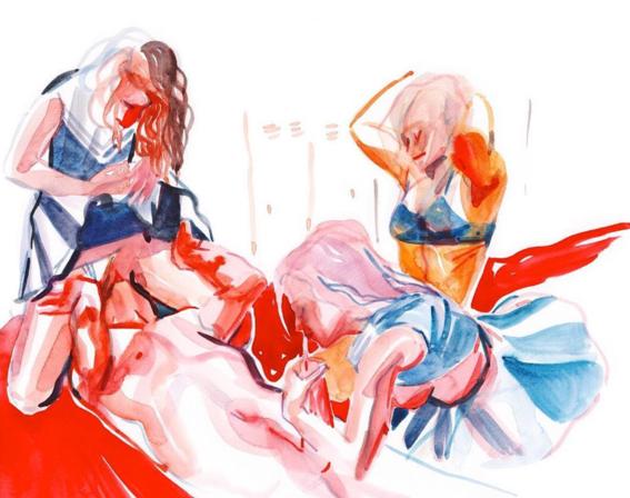 ilustraciones de watercolor porn 2
