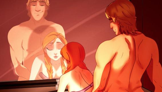 perversas ilustraciones de las princesas de disney 1