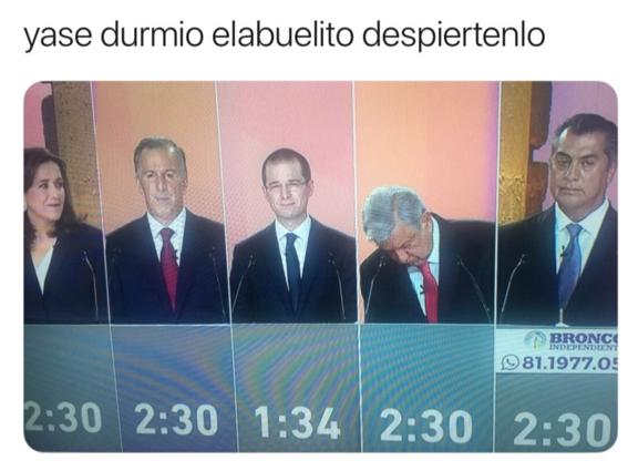 memes del primer debate presidencial en mexico 6