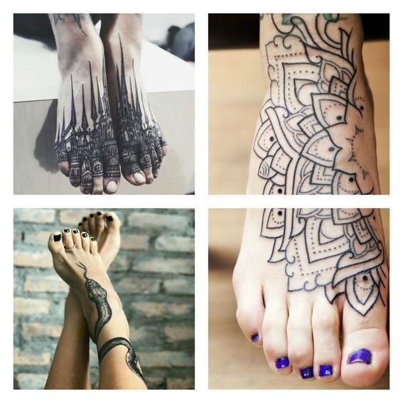 tatuajes en el empeine 3