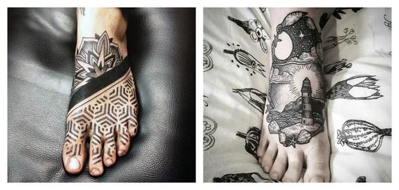 tatuajes en el empeine 5