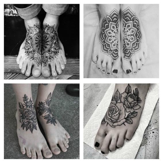 tatuajes en el empeine 7